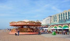 Carousel on  Brighton Beach, England UK. Stock Photo