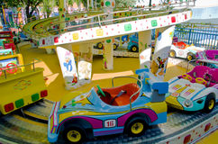 Carousel car from entertainment park Royalty Free Stock Images