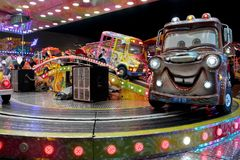 Carousel cars ride Stock Photography