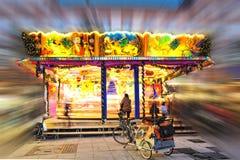 Carousel in Christmas Market Stock Photos
