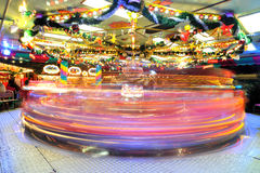Carousel in Christmas market in Frankfurt Royalty Free Stock Images