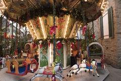 Carousel on Christmas market Royalty Free Stock Image