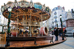 Carousel for the Christmas season in Angers Royalty Free Stock Images