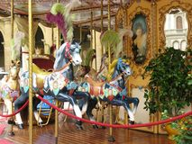 Carousel in the city Stock Photos