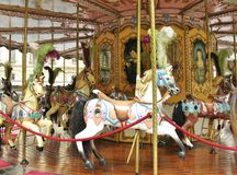 Carousel in the city Royalty Free Stock Image