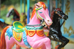 Carousel in City Park Stock Image