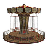 Carousel. 3D digital render of  a vintage carousel isolated on white background Stock Images