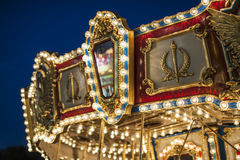 Carousel detail - colorful awning Stock Image