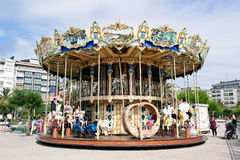 Carousel at Donostia Stock Image