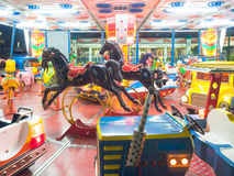Carousel dreamy that turns Royalty Free Stock Photos