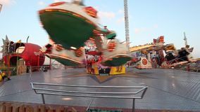 Carousel at the Dubai Global Village stock video footage