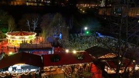 Carousel in Edinburgh Christmas Market Stock Image
