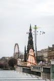 Carousel in Edinburgh, Scotland, UK Stock Photo