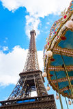 Carousel at the Eiffel Tower, Paris Royalty Free Stock Photo