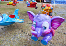 Carousel Elephant Stock Photo