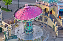 Carousel at the entrance of Prater amusement park in Vienna Stock Image