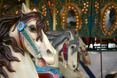 Carousel at the fair. Horses on the carousel at the fair Royalty Free Stock Images