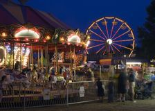 Carousel at the Fair Motion Blur Long Exposure Stock Photo