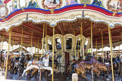 Carousel  in Far west area-  PortAventura park,Spain Royalty Free Stock Image