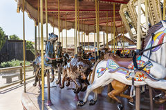 Carousel  in Far west area-  PortAventura park,Spain Royalty Free Stock Images