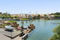 Carousel  in Far west area-  PortAventura park,Spain Royalty Free Stock Image