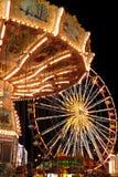 Carousel and Ferris Wheel Royalty Free Stock Photos