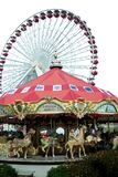 carousel and ferris wheel Stock Photo