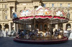 Carousel FIRENZE. Carousel at Piazza della Repubblica in Florence, Italy royalty free stock photos