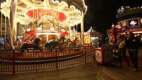 Carousel at Fisherman`s Wharf stock video footage