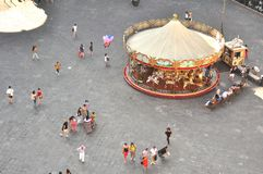 Carousel in Florence city , Italy Royalty Free Stock Image