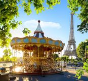 Carousel in France stock image