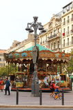 Carousel in french city of Marseille Stock Photos