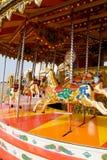 carousel funfair koń obraz royalty free