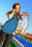 Carousel girl Royalty Free Stock Photography