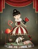 Carousel girl Royalty Free Stock Image
