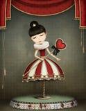 Carousel girl stock illustration