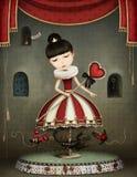 Carousel girl vector illustration