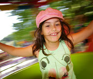 Carousel Girl stock images