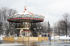 Carousel in the Gorky park Stock Photos