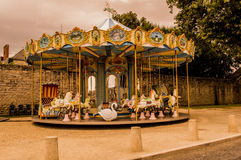 Carousel in Guerande France royalty free stock images