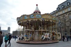 Carousel, Hôtel de Ville, Paris royalty free stock photo