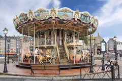 Carousel in Honfleur Stock Photography