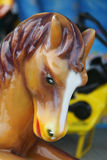 Carousel horse. Closeup of colorful carousel horse Stock Photos