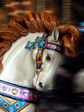 Carousel Horse. With blurred background stock images