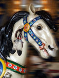 Carousel Horse. With blurred background royalty free stock photo