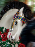 Carousel Horse. With blurred background royalty free stock image