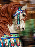 Carousel Horse. With blurred background royalty free stock photos