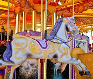 Carousel horse. Memories of childhood Stock Images