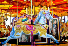 Carousel horse. Memories of childhood Royalty Free Stock Photos