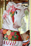 Carousel Horse. Close Up Detail Of Colorful Freshly Painted Carousel Horse Stock Image
